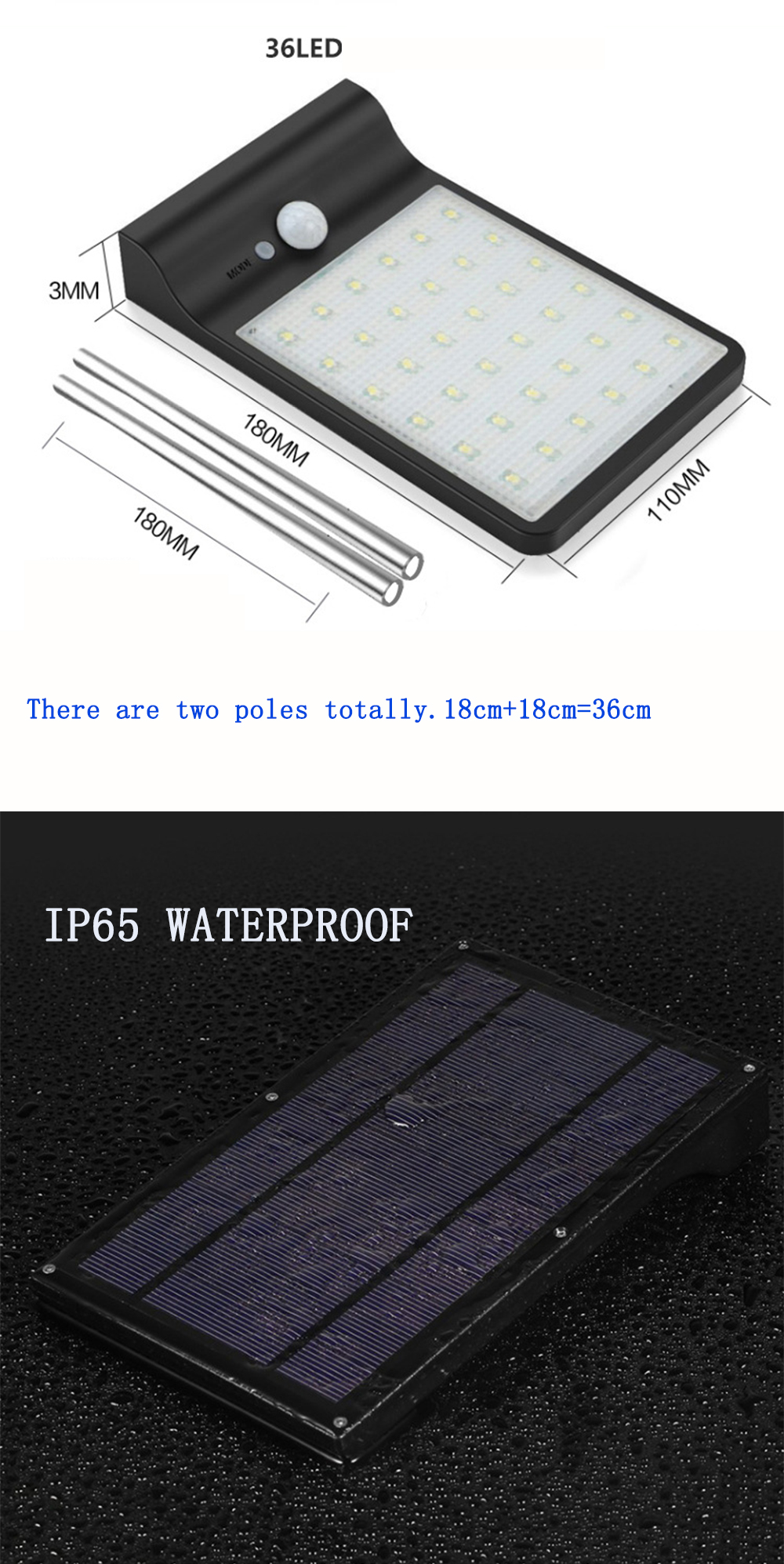 solar jardim luz de poupança energia de