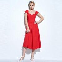 Sisjuly Women Summer Black Dress Female Mid Calf Red Cotton Dresses Sleeveless A Line Solid Female
