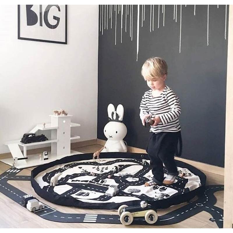140CM Baby Play Mat Game Blanket Toys Storage Bag Toddler Baby Climb Mat Floor Play Carpet Crawling Mat Kids Toys Sundries Pouch цены