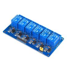 10PCS  Blue 6 Channel Relay Module Low Level Triggered 5V Relay Module Board For Arduino PIC AVR MCU DSP ARM