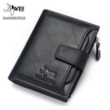DWTS brand Wallet men leather men wallets purse short male clutch leather wallet mens money bag quality guarantee