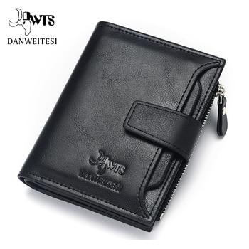81c781a63ba0 Dwts брендовый Кошелек Мужские кожаные мужские бумажники, кошельки Короткий Мужской  Кожаный клатч-портмоне мужская