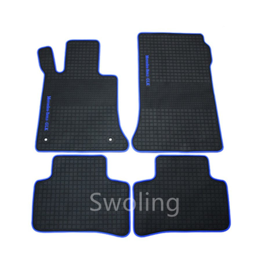 For Mercedes-Benz GLK 200 260 300 High Quality Waterproof Anti Skip Latex Durable Carpets Special Rubber Car Floor Mats
