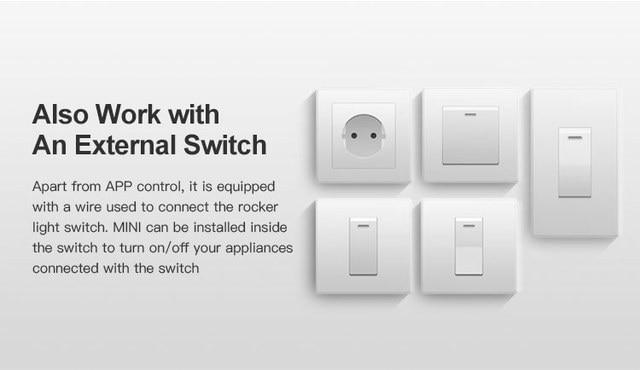 SONOFF MINI Wifi M dulo de interruptor inteligente 110 240 V 2300 W controlador temporizador interruptor
