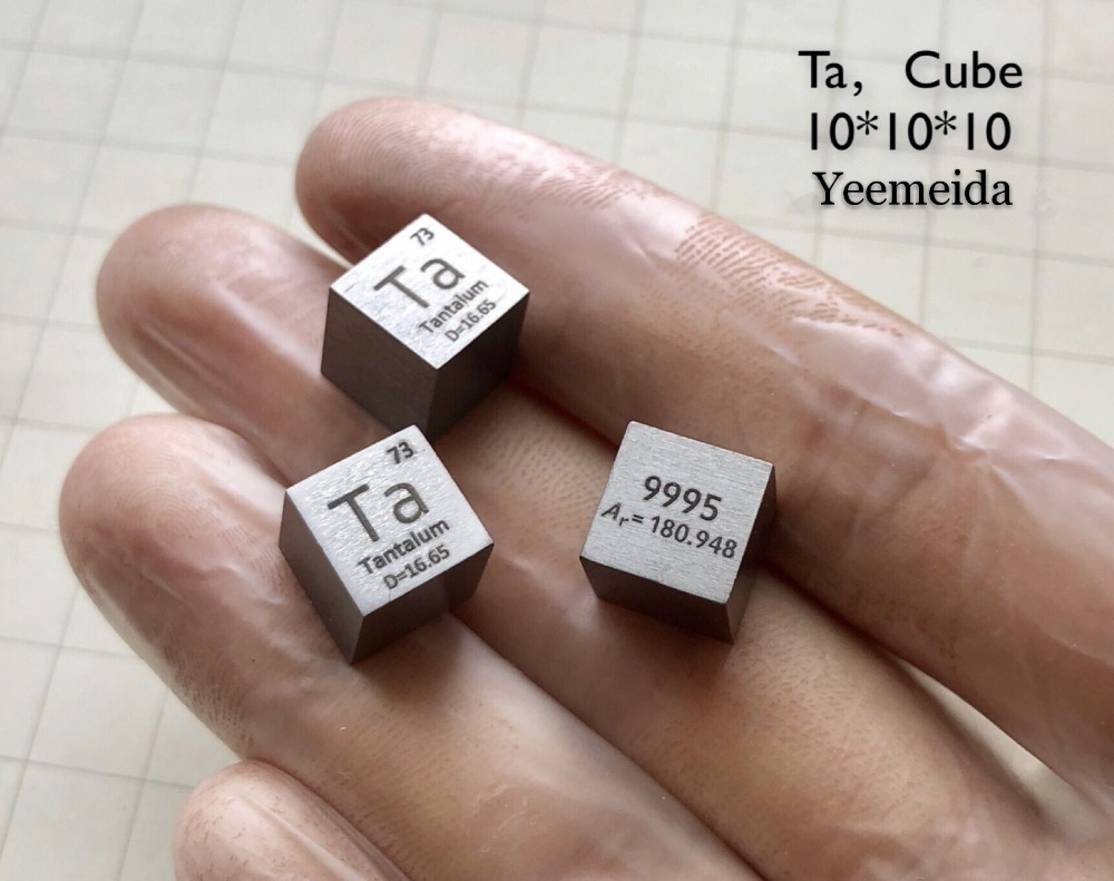 Tantalum Metal 10mm Density Cube 99.95% Pure for Element Collection Tantalum Metal 10mm Density Cube 99.95% Pure for Element Collection