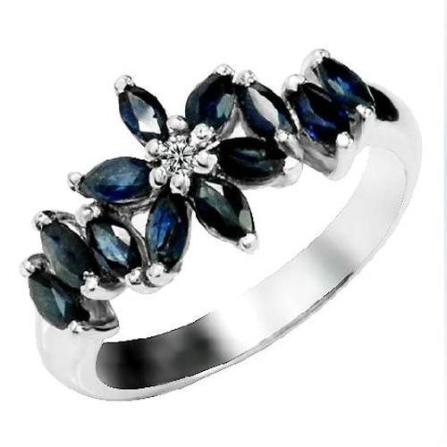 Rings Qi Xuan_Dark Blue Stone Elegant Ring_Fashion Ring_S925 Solid Silver Fashion Dark Blue Rings_Manufacturer Directly Sales Rings Qi Xuan_Dark Blue Stone Elegant Ring_Fashion Ring_S925 Solid Silver Fashion Dark Blue Rings_Manufacturer Directly Sales