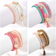 Bohemian Multilayer Crystal Seed Bead Bracelet Sets 9Pcs/Lot
