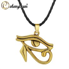 CHENGXUN Oude Farao Horus Eye Ketting Egyptische Amulet Hanger Ketting Vintage Hawk Sieraden Accessoires Boho Gift(China)