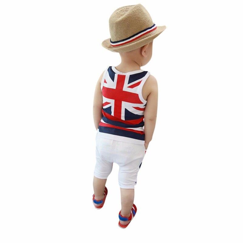Mode D'été Bébé Garçons Vêtements Ensembles Roupas Infantile 6