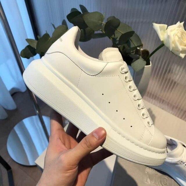 Zapatos de mujer 2019 de lujo de marca famosa para mujer zapatos transpirables de color blanco sexy casual zapatos de piel natural de oveja siz grande DB12911 zapatos deportivos blancos de primavera para bebé de David Bella zapatos sólidos casuales de niño recién nacido