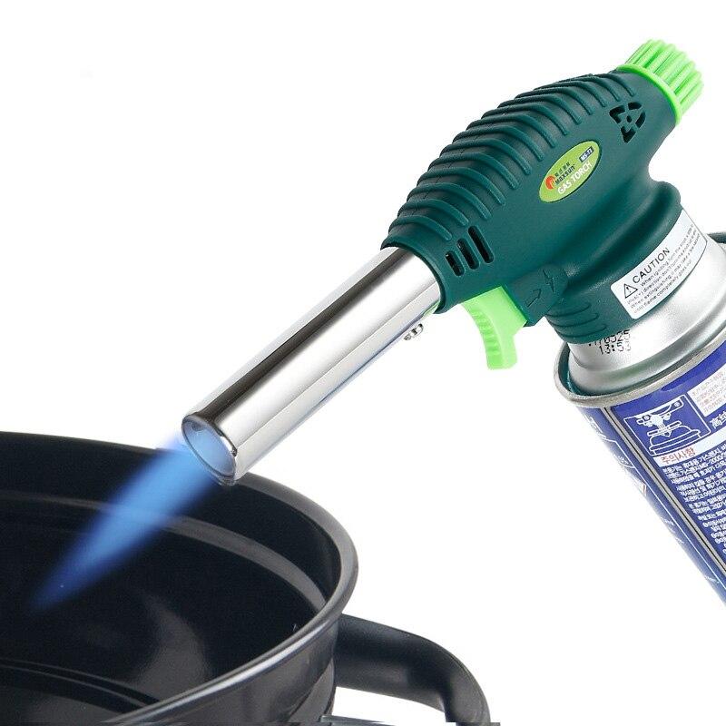 Chalumeau gaz cuisson tube cuivre torche de soudage barbecue extérieur pistolet de pulvérisation briquet carte pistolet de pulvérisation pistolet à flamme