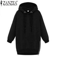 2018 Autumn Winter Zanzea Women Hoodies Long Sleeve Hooded Loose Casual Warm Sweatshirt Oversized Plus Size Sweatshirts
