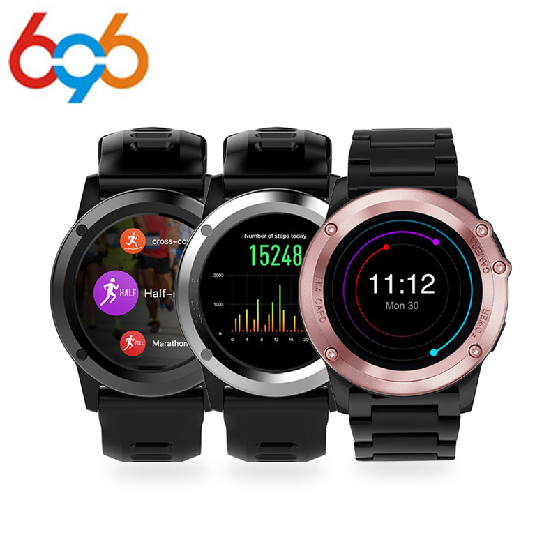 696 H1 Smart Watch IP68 Waterproof MTK6572 4GB 512MB 3G GPS Wifi Heart Rate Tracker For Android IOS Camera 500W PK KW88 new h1 smart watch mtk6572 ip68 waterproof 1 39inch 400 400 gps wifi 3g heart rate monitor 4gb 512mb for android ios camera 500w