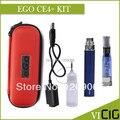 EGO CE4 mais Cigarro Eletrônico Kits 1.6 ml CE4 mais Atomizador 650,900, 1100 mah EGO T Bateria de Couro Com Zíper Embalagem do caso