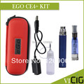 EGO CE4 plus Electronic Cigarette Kits 1.6ml CE4 plus Atomizer 650,900,1100mah EGO T Battery Zipper Leather Case Packing