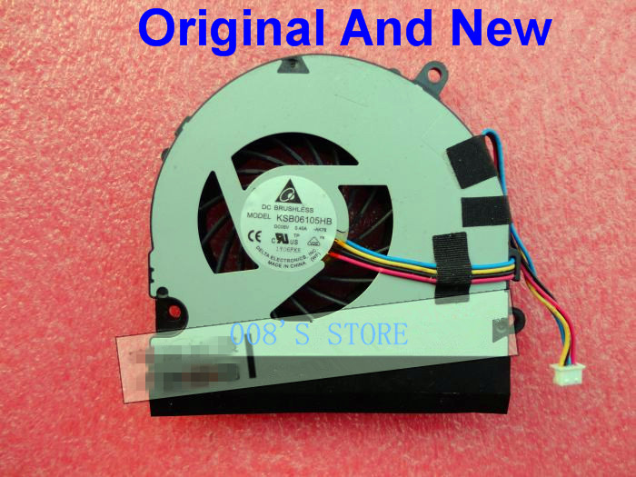 New Laptop CPU Cooling Cooler Fan For <font><b>MSI</b></font> CX640 CX640MX-496FR CR640 M2420 <font><b>CX640DX</b></font> MS-16Y1 Series KSB06105HB -BA10 BA10 4 Pin image