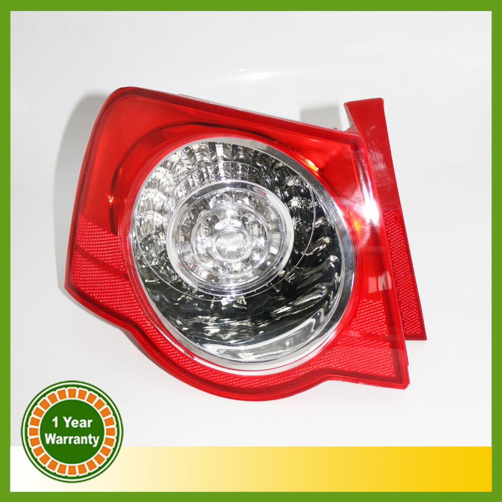 For VW Passat B6 2006 2007 2008 2009 2010 2011 LED Rear Tail Light Lamp Left Side Outer Left-hand Trafic Only free shipping for skoda octavia sedan a5 2005 2006 2007 2008 left side rear lamp tail light