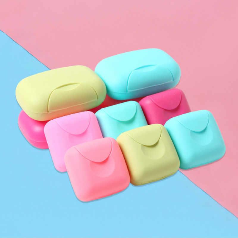 الإبداعية السفر صندوق الصابون الحمام مختومة علبة صابون غسل دش صندوق صابون بلاستيكي لوازم السفر