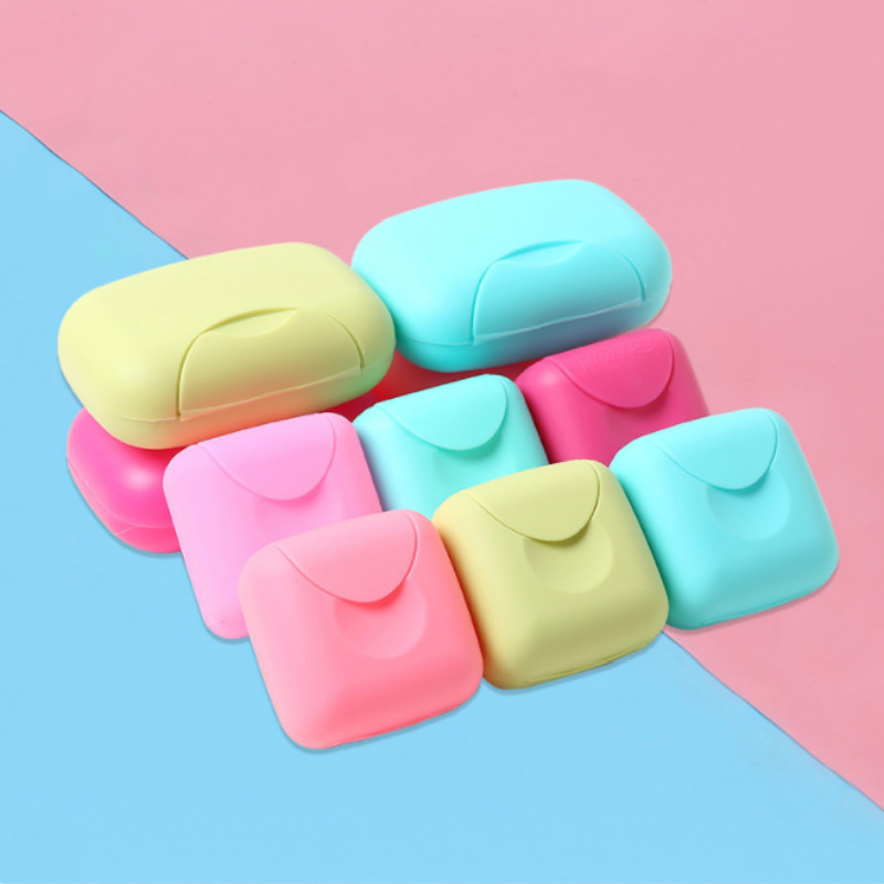 Bathroom Soap Box Plastic Soap Dish Creative Travel Soap Holder Plastic Containers