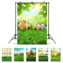 Bahar Otlak Eatser Yumurta Vinil Kumaş Fotoğraf Arka Plan Özelleştirilmiş Fotoğraf Fotoğraf Stüdyosu Için Arka Planında Bebek Çocuk Photophone