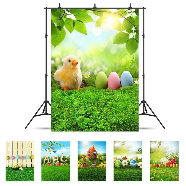 Printemps prairie restaurant oeuf vinyle tissu Photo arrière plans photographie personnalisée décors pour Studio Photo bébé enfants Photophone