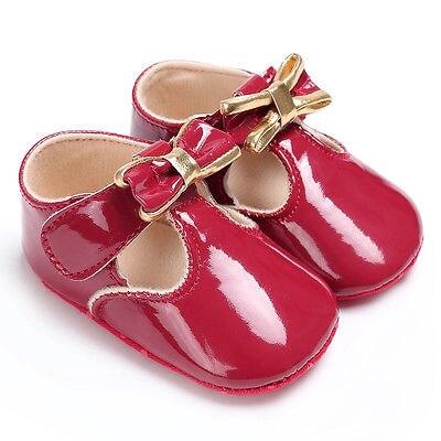 First Walkers Toddler Infant Baby Girl Soft Crib Sole Infant Prewalker bow-knot Shoe Princess