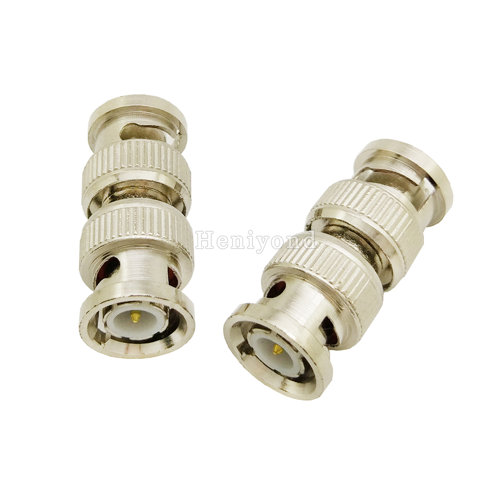 5pcs BNC Male to Male Inline Coupler Coax Connector adapter Extender RG6 RG59 cctv cable connector accessories