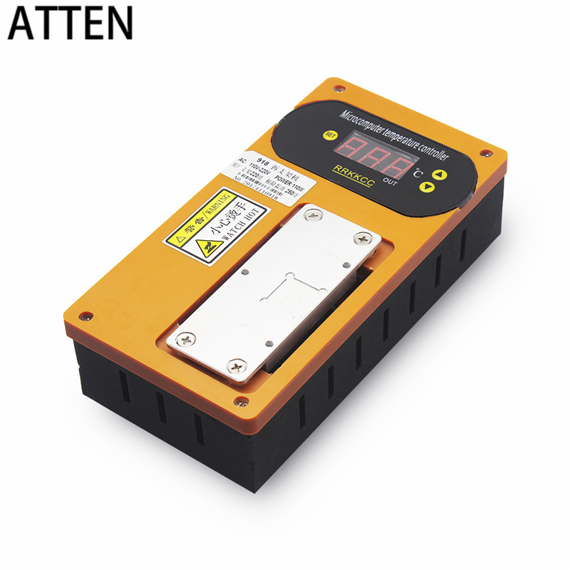 ATTEN Remove LCD frame professional repair Machine 220V frame bezel seperate heating platform Machine for iphone X 8 7 6-in Screen Seperator Machine from Cellphones & Telecommunications    1