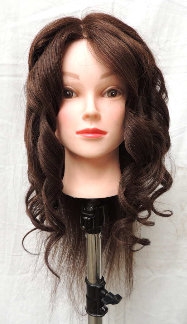 mannequin hair styling heads 85 hairstyling manikin with human hair 3779