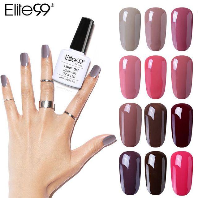 Elite99 10 ml Nude Farben Gel Polish UV LED Nude Farben Nail art Design Basis Top Mantel Nagel Gel Semi -dauerhafte Lack Pick Any3