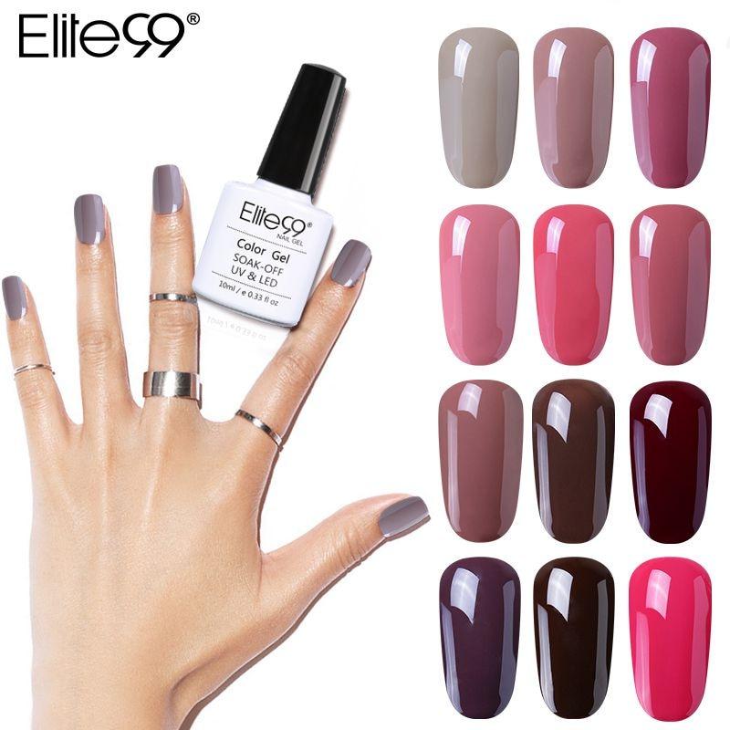 Elite99 Gel Polish Varnish UV LED Gorgeous Nude Color