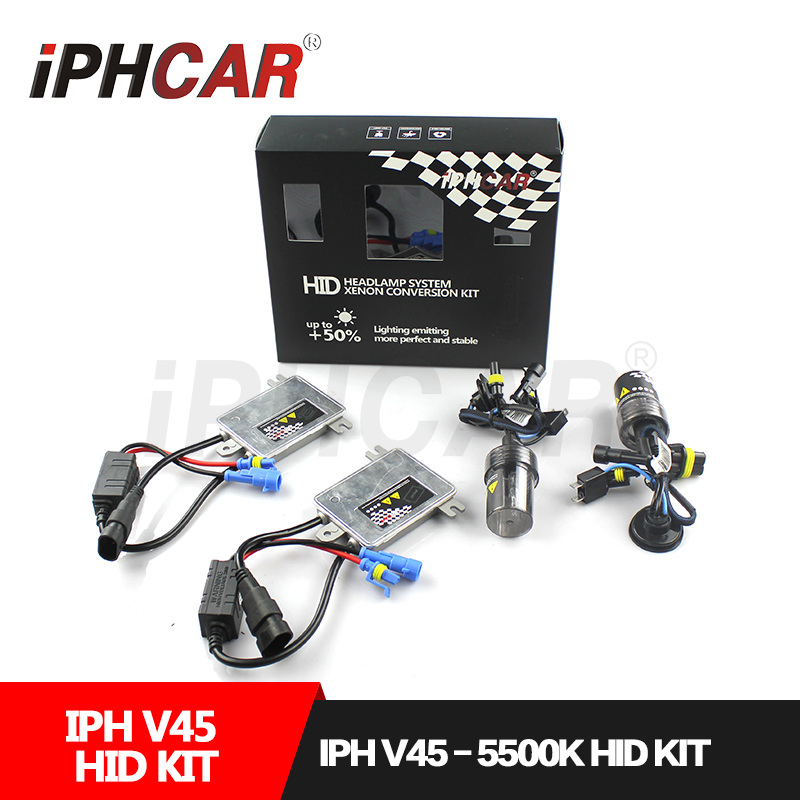 Free Shipping IPHCAR H1 H3 H7 H11 9005 9006 880/881 Xenon Hid Kit 45W Hid Lighting for H1 H7 H11 Automobile