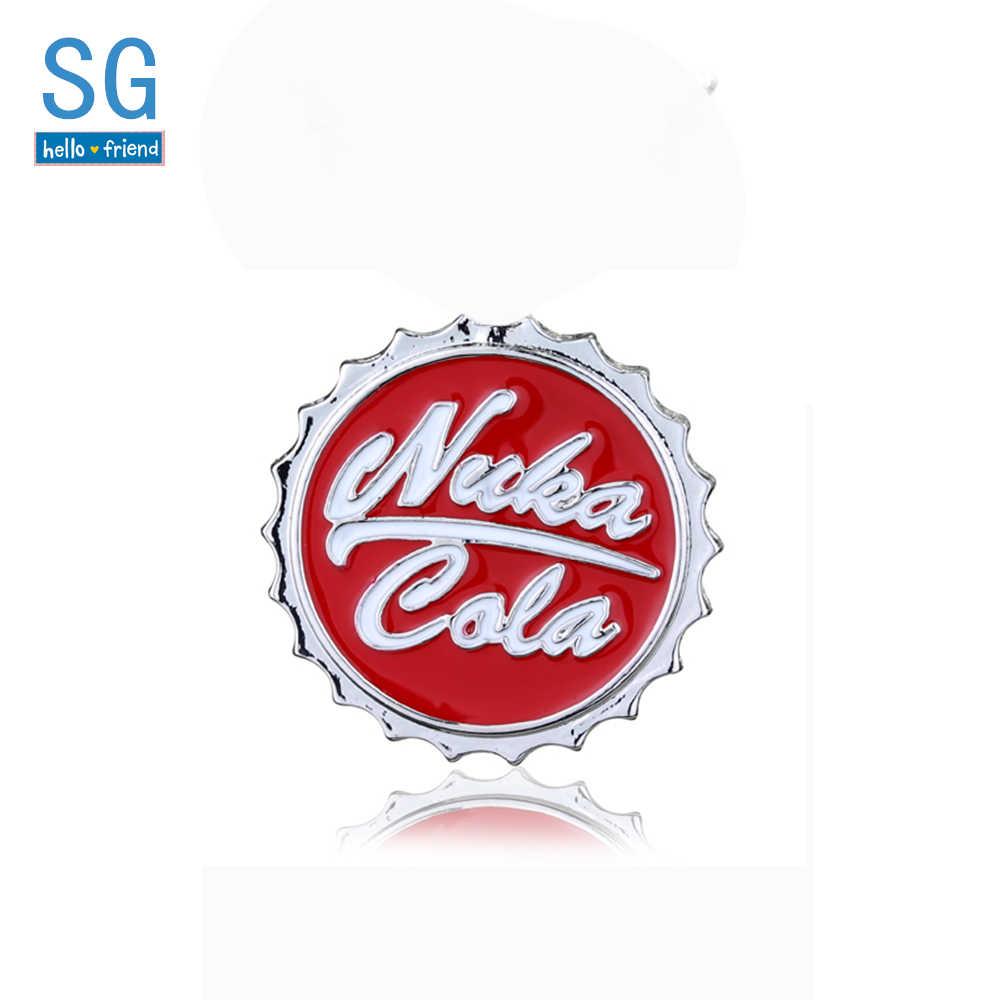SG Nuka Cola Merah Bros Botter Pembuka PIP Anak Gantungan Kunci Mobil Gantungan Kunci Persahabatan Kerah Lencana Pria Mantel Permainan perhiasan Hadiah