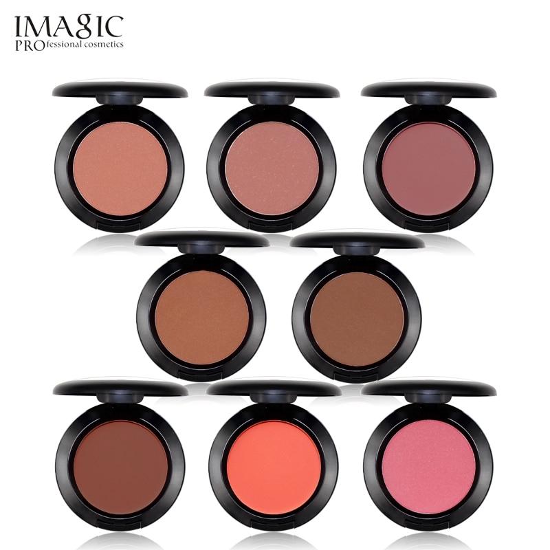1 Pc Natural Blush Baked Cheek Face Blusher Texture Baked Blush Face Base 8 Colors Mineral Blusher Palette Blush Makeup