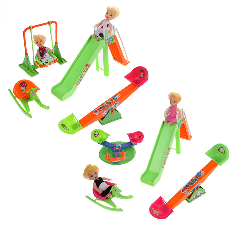 1set 2017 Newest Baby Fashion Families Doll Furniture Dollhouse Childrenu0027s  Seesaw Doll Pretending Toy For Children