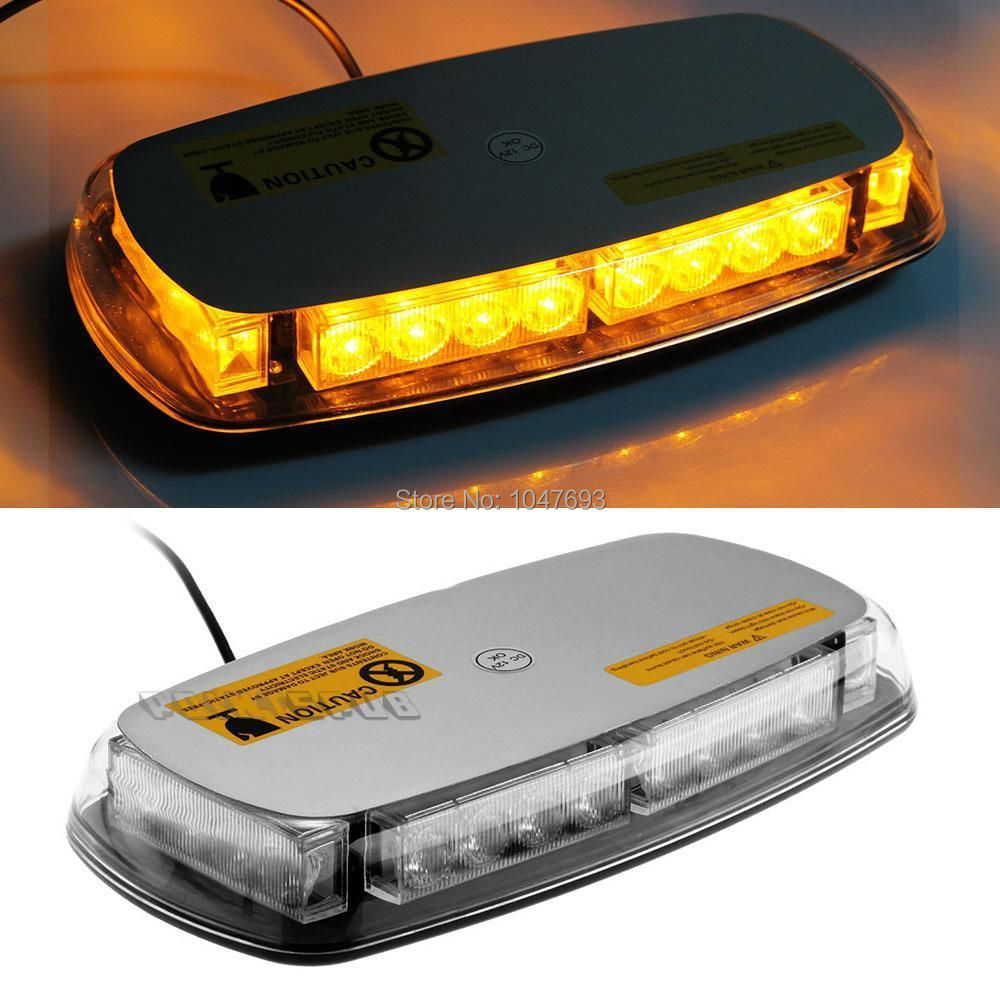 Car Roof Top Yellow 24 Led Magnetic Emergency Warning