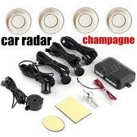 9 cores de carro 4 sensores de Estacionamento Auto Reverso Traseira Reverter Assistência Backup Parque Radar Buzzer Kit Sistema de Alarme De Áudio