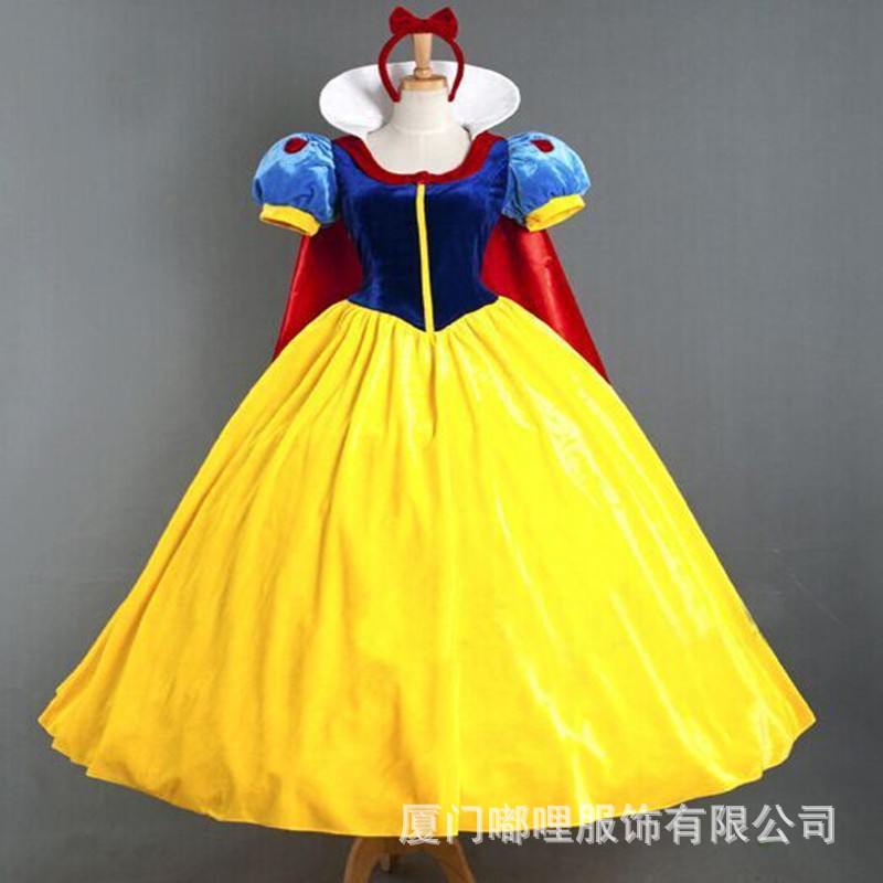 2018 Snow White and the Seven Dwarfs Snow White Princess Dress Gifts Intant Party Clothes Fancy Adult Clothing