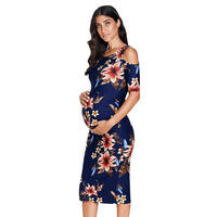 Maternity Clothes Bodycon Floral Baby Shower Pregnancy Dress Maternity Clothing Party Floral Dress H518