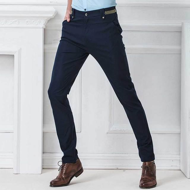 Frente plana Calça Feminina Casual Calças de Trabalho dos homens de Negócios Sob Medida Formal Wear Cor Sólida Azul Marinho Preto Qualidade Premium