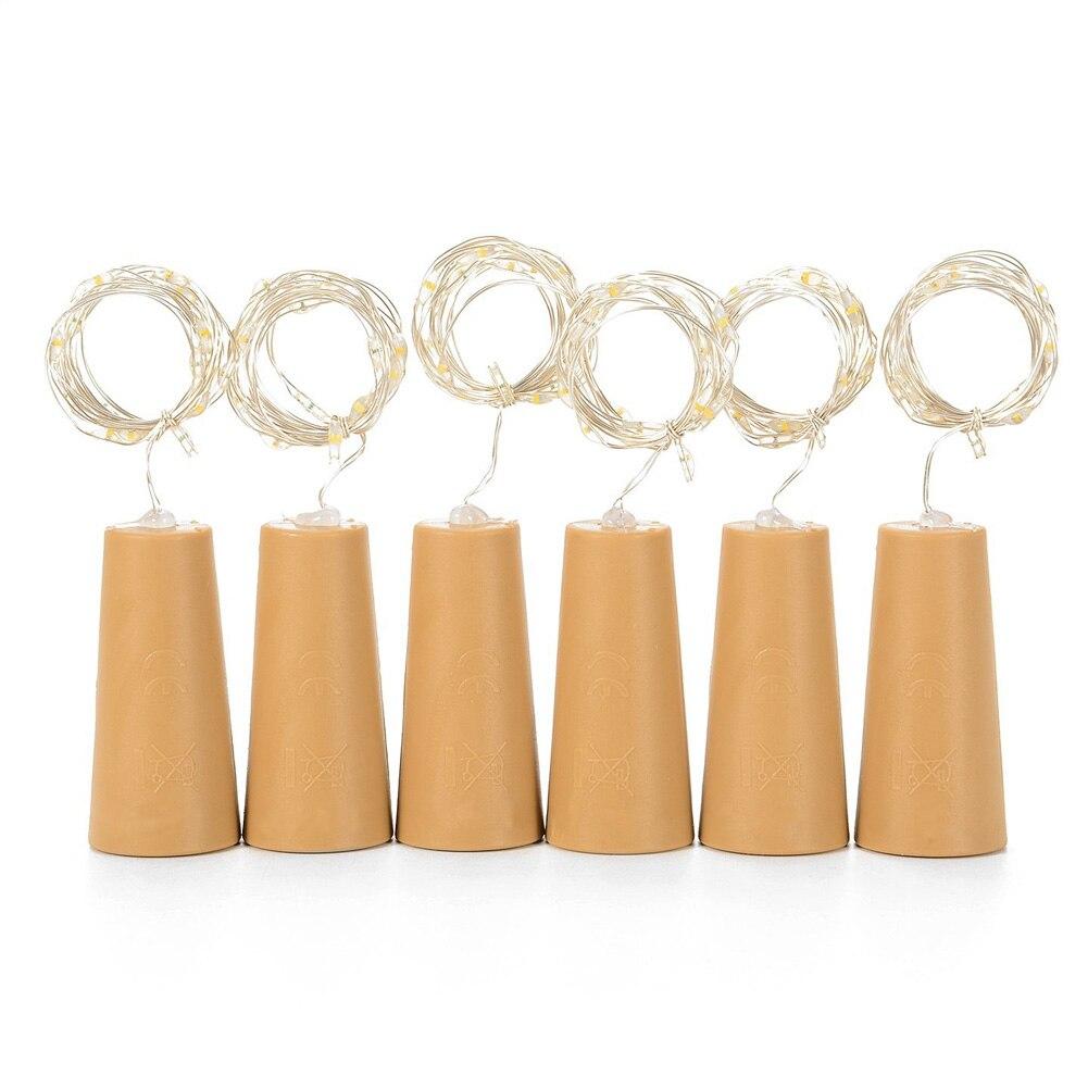 15 Leds Diy Flasche Kork String Lichter Silber Draht Starry Licht Für Wohnzimmer Hochzeit Weihnachten Kinder Geburtstag Party Lb88 Ideales Geschenk FüR Alle Gelegenheiten