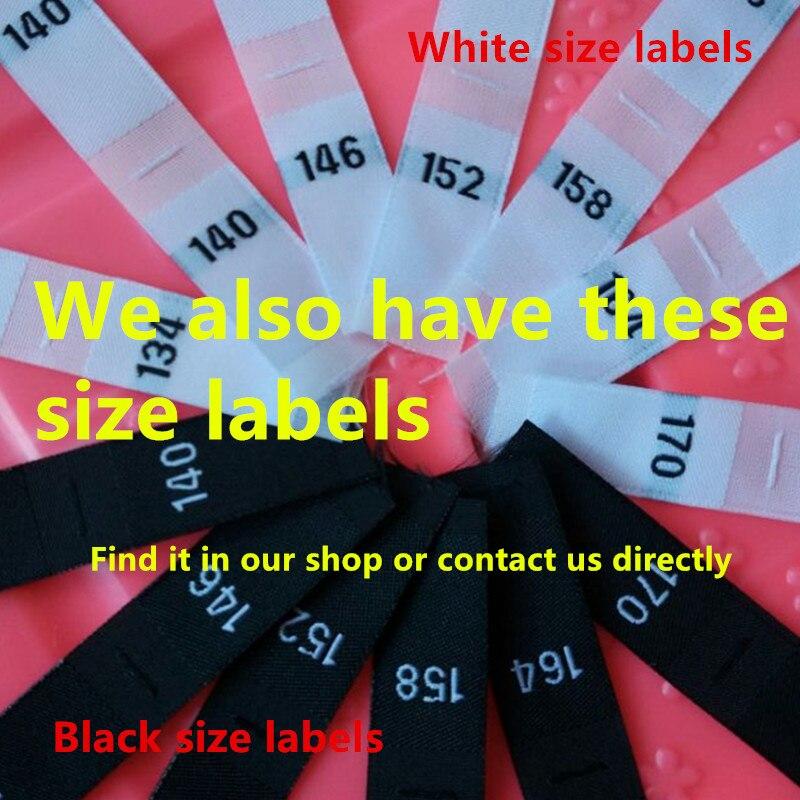 100 шт. белый Дамаск из полиэстера для очень больших и больших стандартных этикеток одежда для малышей 50/56 62/68 74/80 86/92 98/104 110/116 122/128 134/140 146/152