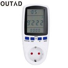 OUTAD Digital Energy Power Watt Volt Amp Meter Analizador Del Monitor 230 V 50Hz de Frecuencia de Potencia Kwh Interruptor Temporizador de Cocina Envío de la gota