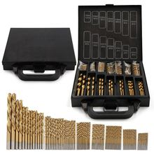 99pcs Drill Bit Titanium HSS Coated 1.5mm-10mm Stainless Steel High Speed Bits Set for Electrical