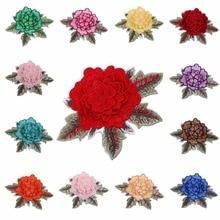 Sunbling 1 pezzi di fiori ricamati cucire sulle toppe di pizzo adesivo colorato applique per le donne vestono abbigliamento