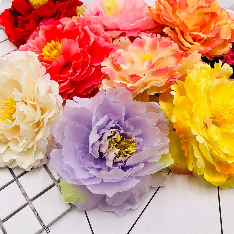 20 штук шелк пион глава искусственный цветок дешевые ваза украшения дома свадебные выскабливание цветок поддельные цветок diy ВЕНОК 11 см