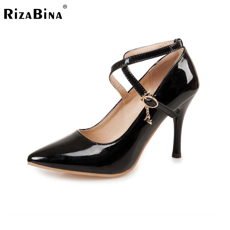 women stiletto high heel shoes party sexy buckle brand quality footwear fashion heeled pumps heels shoes size 34-41 P17721 taoffen women high heels shoes women thin heeled pumps round toe shoes women platform weeding party sexy footwear size 34 39