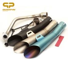 Modified  Motorcycle Exhaust Pipe Muffler GY6 Middle Link Pipe Scooter Escape Moto For GY6 Exhaust System 125CC 150CC Yamaha 110