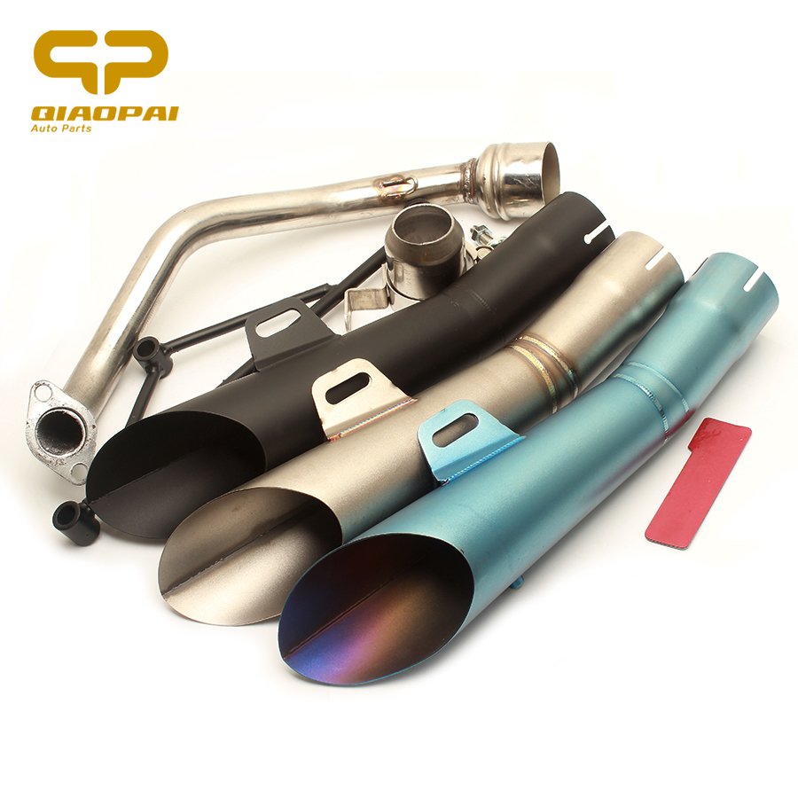 Modified Motorcycle <font><b>Exhaust</b></font> Pipe Muffler GY6 Middle Link Pipe Scooter Escape Moto For GY6 <font><b>Exhaust</b></font> <font><b>System</b></font> 125CC <font><b>150CC</b></font> Yamaha 110 image