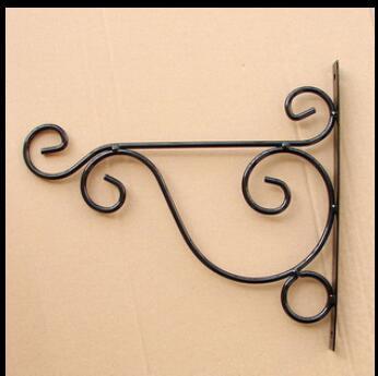 Env o libre 2 unids color negro ara a macetas colgantes de hierro forjado ganchos de pared - Colgadores de macetas ...